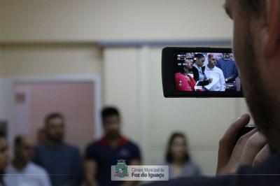 Alunos do curso técnico em Administração do Instituto Federal do Paraná visitam a Câmara Municipal de Foz do Iguaçu - 08-08 (09)