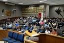 Prestação de contas da saúde pública de Foz do Iguaçu realizada no plenário da Câmara - setembro de 2019 - Foto: Diretoria de Comunicação CMFI - Maria Fernanda Setti