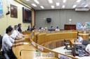 Empréstimo de plenário para realização da Audiência Pública que tratou sobre o plano municipal de saneamento básico. Foto: Diretoria de Comunicação CMFI - Maria Fernanda Setti