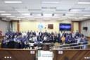 A Guarda Municipal de Foz do Iguaçu completa no domingo, 5 de maio, 25 anos de existência. Em comemoração ao aniversário aconteceu na manhã de hoje (3) uma cerimônia realizada pela Guarda no plenário da Câmara de Vereadores como forma de homenagear a instituição e os servidores pelos serviços prestados.