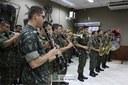 A solenidade contou com a participação da Banda do 34º Batalhão de Infantaria Mecanizada.
