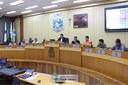 Reunião sobre alagamentos realizada no Plenário da Câmara