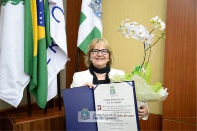 Entrega de Título de Cidadã Honorária a Desembargadora Rosemarie Diedrichs - 12-08 (10)