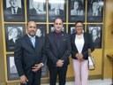 Beni Rodrigues (PSB), Presidente da Câmara, e os Vereadores Rosane Bonho (Progressista) e Marcelinho Moura (Podemos) participaram da posse do novo presidente do Tribunal de Contas. 23-01-2019