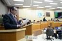 Vereador Elizeu Liberato na tribuna (Foto: Diretoria de Comunicação CMFI - Maria Fernanda Setti)
