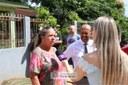 Uma das moradoras do Arroio, Marilda Luiza concedendo entrevista a TV Câmara - 15/04/2019 - Foto: Maria Fernanda Setti (Diretoria de Comunicação)