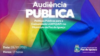 Audiência discute políticas públicas para comunidade LGBTQIAP+ na Câmara de Foz