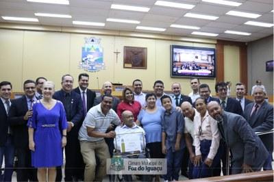 Câmara Municipal homenageia o ex-árbitro Onofre Gomes da Silva