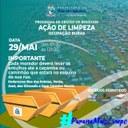 Câmara participa, neste sábado (29/05), de ação de limpeza na ocupação do Bubas