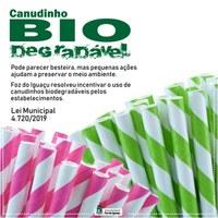 Diminuição de canudos de plástico já é lei em Foz!