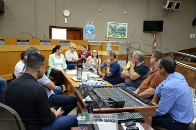 Empresários e autoridades do município debatem melhorias para o Distrito Industrial