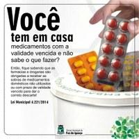 Farmácias e drogarias devem receber medicamentos vencidos