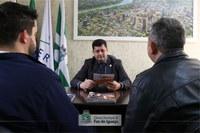 Presidente da Câmara de Foz recebe visita de representantes do SENAC