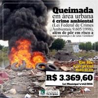 Provocar queimadas é crime!