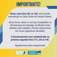 Site da Câmara e SAPL devem ficar fora do ar para manutenção programada a partir das 16 horas de Sexta-feira