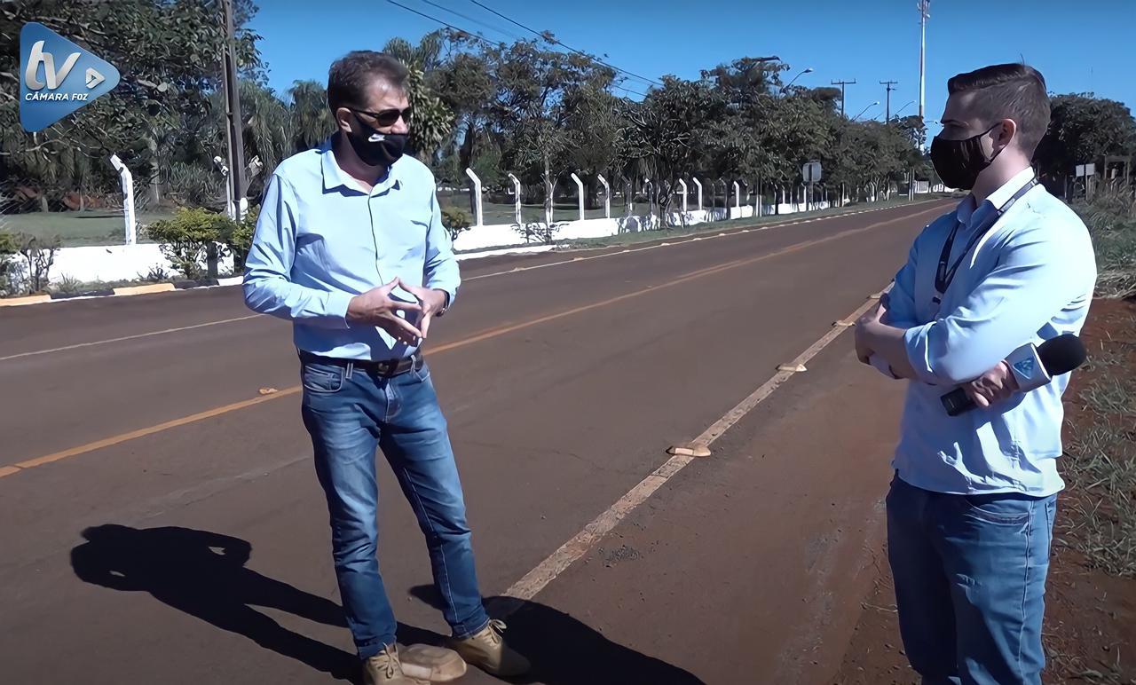 Vereador Dr. Freitas pede implantação de ciclovia e pista de caminhada na Av.  João Ricieri Maran, em Três Lagoas